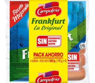 Salchichas frankfurt Campofrío pack 4×140 g.