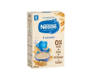 Papillas Nestlé 8 cereales bífidus 600 g.