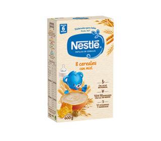 Papillas Nestlé 8 cereales y miel 600 g.