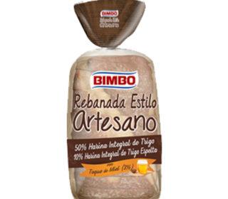 Rebanada artesana Integral Bimbo 550 g.