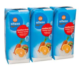 Fruta + Leche Alteza mediterráneo pack-3x330ml.