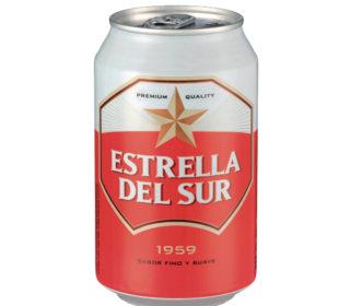 Cerveza Estrella del Sur lata 33 cl.