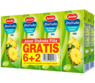 Nectar Disfruta piña pack-6+2×200 ml.