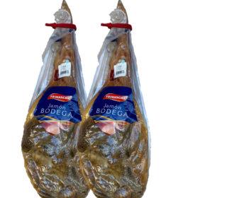 2 Jamones bodega Frimancha de 6 a 6.5 kg.