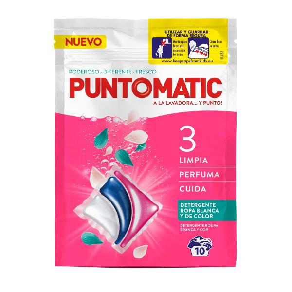 Cápsula lavadora Puntomatic tricámara 10 un.
