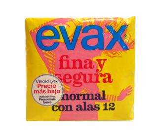 Compresas Evax F&S alas normal:12un.