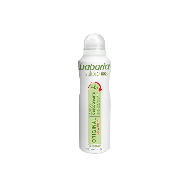 Desodorante spray Babaria aloe vera 200 ml.