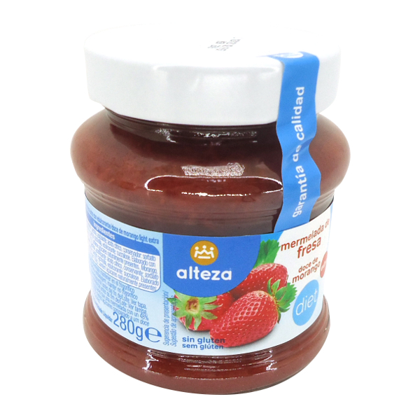 Mermelada sin azúcar fresa Alteza 280 g.
