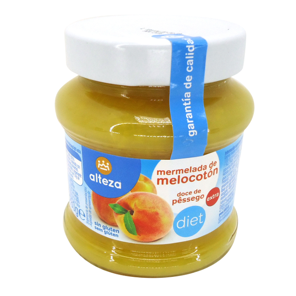 Mermelada sin azúcar melocotón Alteza 280 g.