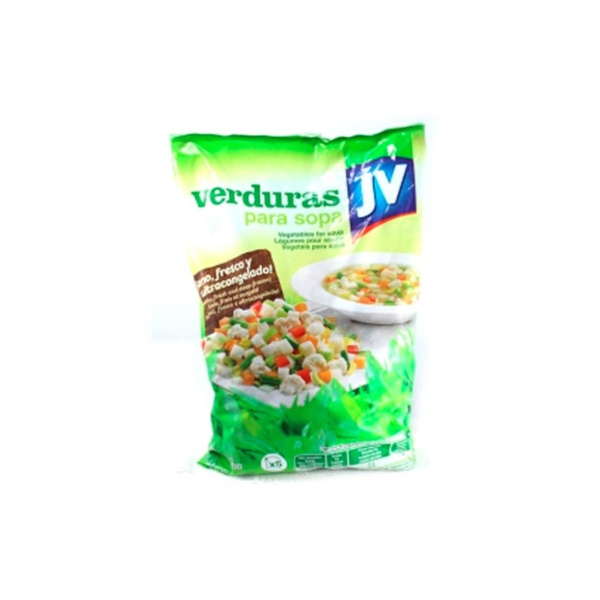 Verdura para sopa J.V. bolsa 450 g.