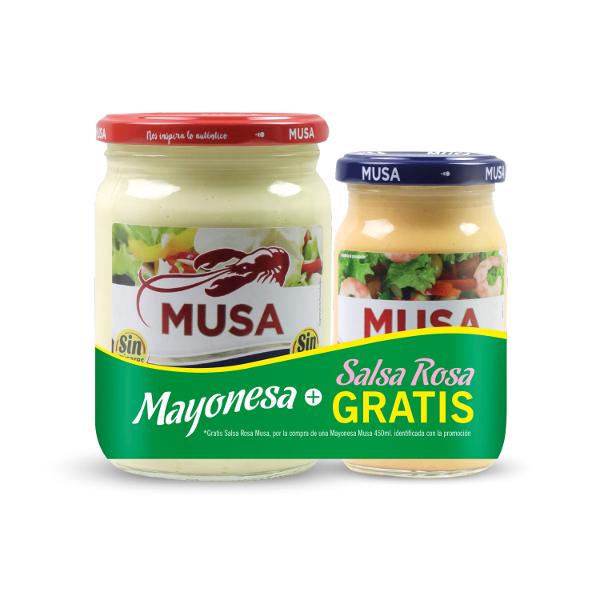 Mayonesa Musa 450 ml. + salsa rosa Musa 225 ml.