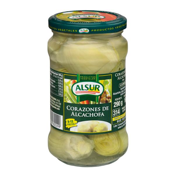 Alcachofas 8/12 f. Alsur frasco 160 g.