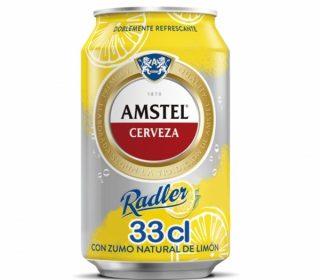 Cerveza Amstel Radler limón lata 33 cl.