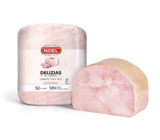Jamón cocido extra Delizia Noel, 250 g.