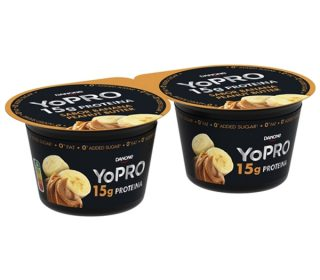 Yopro plátano y mantequilla cacahuete pack-2×160 g.